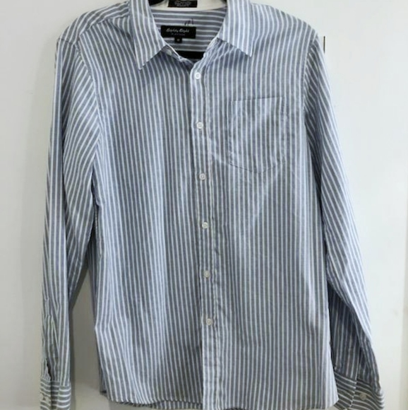Eighty Eight Other - 5 for $30 Blue White Striped Button Up Dress Shirt